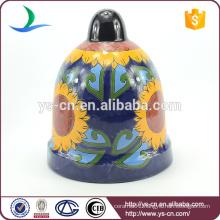 YSfp0006-02 Sunflower ceramic hanging pot for garden