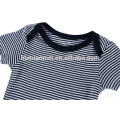 Wholesale Mazarine Cheap Baby Boy Short Sleeve Romper Boutique Stripe Clothing Toddlers Jumpsuits Baby Romper Set