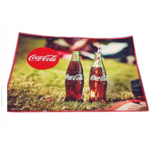 coca Promotional design recycle pp woven mat picnic mat