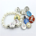 Snap Button Pearl Jewelry Design for Girls 2016 Fashion Bracelet
