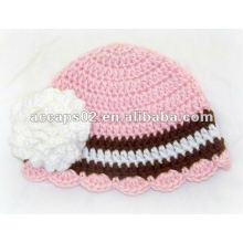 Sombrero de punto de flores BN-299