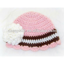 knitted flowered hat BN-299