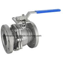 2PC Flange API Válvula de esfera flutuante de aço inoxidável