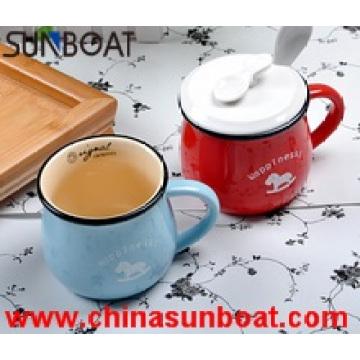 Bright Color Non-Stick Enamel Milk Cup Gift Mug