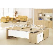 Escritorio de muebles de oficina de madera de teca, mesa de tamaño estándar y mesa final (KT816)