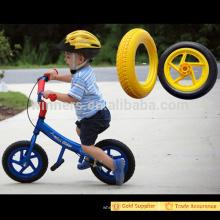 Peso ligero 12 pulgadas PU rueda de espuma de plástico para niños en bicicleta