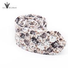 Nouvelles cravates en coton imprimé floral Floral Skinny