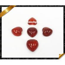 El corazón rojo de la ágata Cabochon, los granos de la joyería del Cabochon de la cornalina vende al por mayor (AG029)