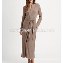 usine personnaliser long style câble tricoté 100% pure robe en cachemire pour les femmes