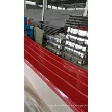 Teja galvanizada de acero para techos de chapa acanalada de zinc para techos