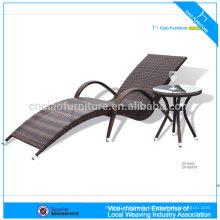 F- CF1007 extérieur robuste UV-preuve UV-résistant en plastique rotin chaise longue