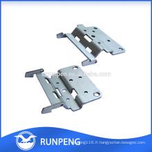 Quincaillerie de meubles Estampage Charnières de meubles en aluminium