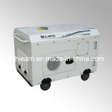 Conjunto de generador diesel de tipo silenciador de dos cilindros refrigerados por aire (DG15000SE)