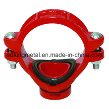 Ductile Iron 300psi NPT Threaded Grooved Mechanical Tee