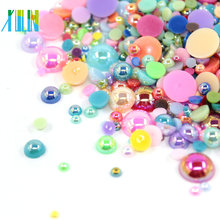 Mix Color Wholesale Normal Color Half ABS Pearl Beads
