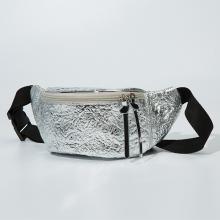 Blingbling metal street sport style waist bag