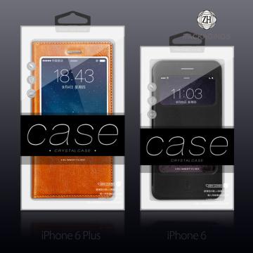 Embalaje de la cubierta de la caja de cuero IPhone