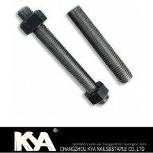 DIN975 / ASTM A193 Varilla roscada B7 / B7m / B8 / B8m con grados 4,8 / 8,8 / 10,9 / 12,9 / A2 / A4