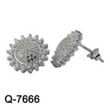 Jóias de prata dos brincos da forma do projeto 925 novos (Q-7666. JPG)