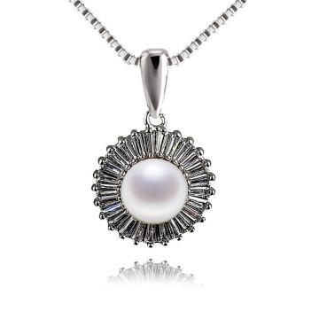 Bijoux brillants en perles de perles d'eau douce en perles de zircon brillantes