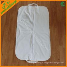 Sac de couverture de vêtement personnalisé blanc recycler peva costume