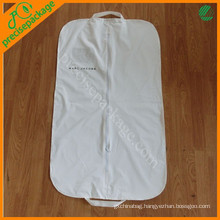 Custom recycle white peva suit garment cover bag