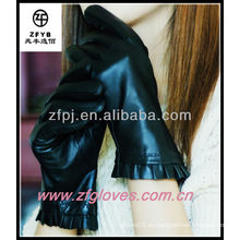 Cuero de cuero de señora encanta guantes