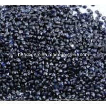 Piedras preciosas naturales rubí sintético negro para joyas