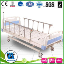 "3 fold hospital bed with 5""castors"
