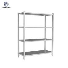 Prateleira de parede de aço inoxidável da cozinha da organização de armazenamento doméstico