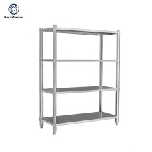 Estante de pared de cocina de acero inoxidable para organización de almacenamiento en el hogar