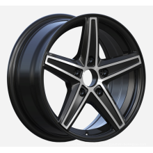 Small Size Car Wheel Satin Black Machined Face