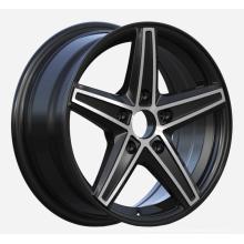Малый размер колеса автомобиля сатин черный обработанной лицо