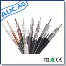 El precio coaxial 75ohm de la piel RG58 / RG59 / RG6 / RG11cable del PVC de la fabricación de China aplica al CCTV / CATV con el estándar del CE ROHS