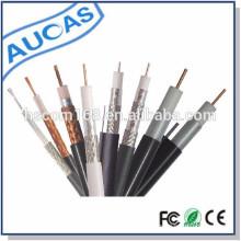 China Preço de coaxial de PVC RG58 / RG59 / RG6 / RG11cable da pele da fabricação de China aplicam-se ao CCTV / CATV com o padrão do CE ROHS