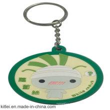 China-Lieferant-runde Form Keychain für Weihnachtsgeschenk