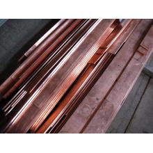 Vente chaude de barres en cuivre ou tige en cuivre, barre plate