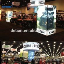 Cabina de exhibición de aluminio de iluminación, diseño de cabina portátil para feria comercial, sistema de exhibición de diseño libre
