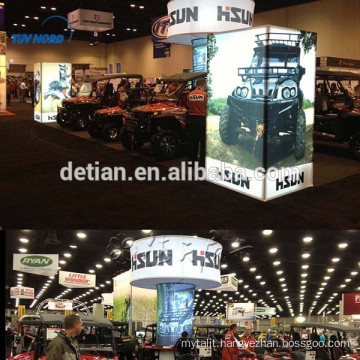 Lighting aluminum trade show booth, portable booth design for trade show, free design exhibition system