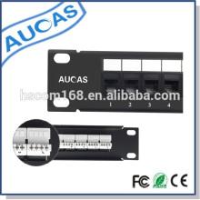 Alta calidad caliente del precio de fábrica de China de la venta 24 el panel de remiendo de la fibra del puerto / systimax / la gerencia del cable de la red