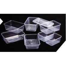 Plástico rectangular para llevar Contenedor de alimentos para microondas 750ml