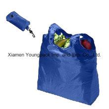 Sac à provisions pliable réutilisable réutilisable réutilisable de luxe 190t