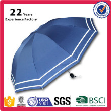 Cheap Wholesale Price Blue Custom Logo Printing Telescopic Corporate Compact Folding Umbrella for Rain