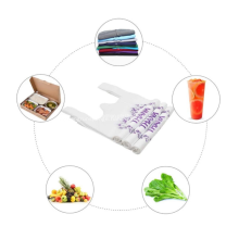 Plastic shopping bags can be customized