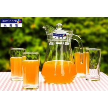Luminarc claro Set de beber de vidrio 7PCS, jarra de agua 1PC y vaso de vidrio 6pcs Vidrieras Set