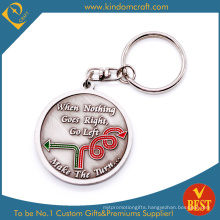 Custom Round Shape Metal Keychain