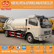DONGFENG 4x2 6000L small vacuum sewage suction truck with vacuum pump 120hp