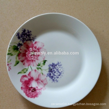 WHOLESALE PORCELAIN SOUP PLATE, CHEAP HOT SALE PRINTED PLATE