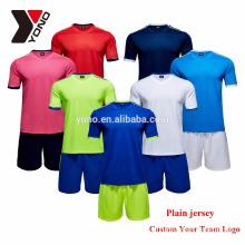 2017 YONO personalizado seu logotipo thai qualidade futebol jersey em branco em estoque uniforme de futebol kit