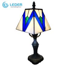 LEDER Blue Glass Bedside Lamp